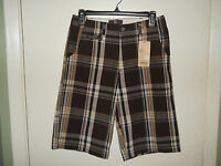 & M Boys Casual Shorts Size 14 Brown Plaid