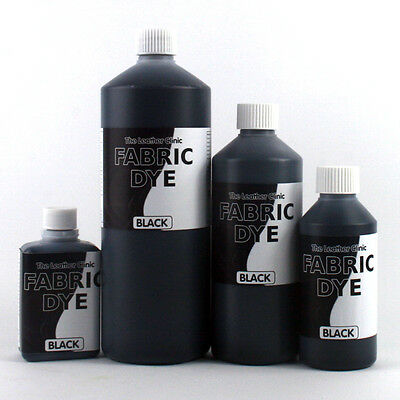 BLACK Liquid FABRIC Dye All SIZES for Upholstery, Sofa, Clothes, Denim, Shoe etc