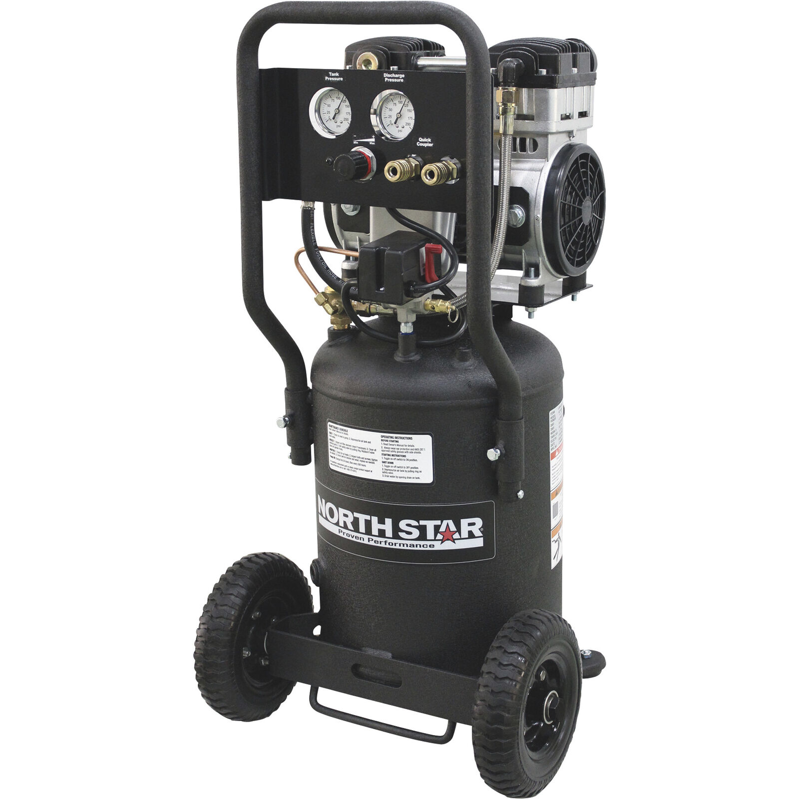 NorthStar Electric Air Compressor- 1.5 HP 8-Gallon Vertical Tank Portable. Buy it now for 294.99