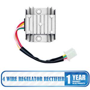 4-Cable-Plein-Vague-Moto-Regulateur-Redresseur-12V-DC-Bicyclette-Quad-Scooter