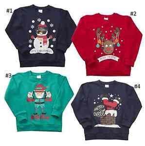 Kids-Boys-Girls-Christmas-Xmas-Novelty-Sweatshirt-Jumper-7-13-Years