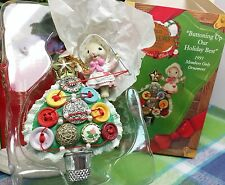 Enesco Buttoning up Our Holiday Best ornament Mice Button Christmas tree