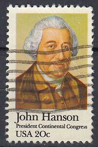 Estados unidos sello con sello 20c John Hanson presidente Continantal Congres/259