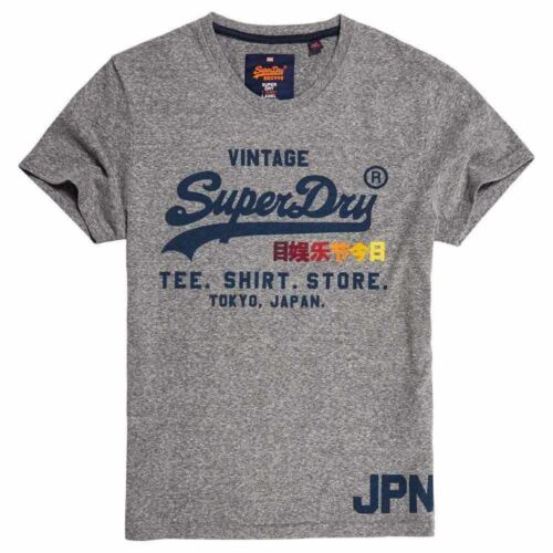 Superdry Chemise Homme Shop Surf T-Shirt Pull Casual Tee Gris Neige