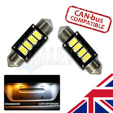 VW Passat CC 08-12 SUPER STRONG Canbus Bright White LED Number Plate 36mm Bulbs