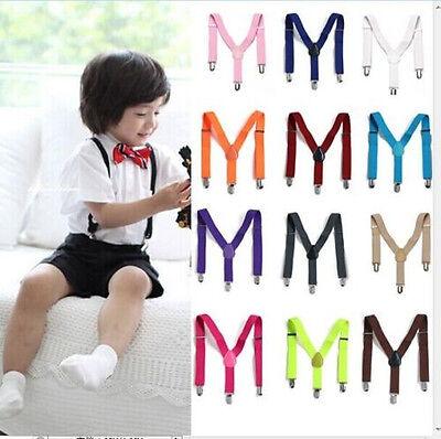 Adjustable Brace 1PCS Children Kids Boy Girls Toddler Clip-on Suspenders Elastic