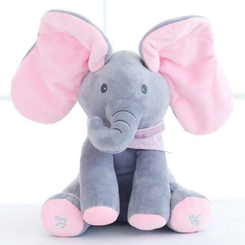 Peek-a-boo Singing Elephant Music Doll Plush Toy Stuffed Toys Kid Baby XMAS Gift