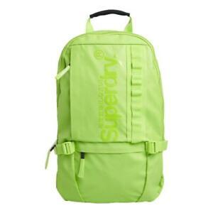 Superdry-NEW-Men-039-s-Slimline-Tarp-Backpack-Lime-BNWT
