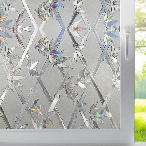 3D Waterproof Static Cling Cover Frosted Window Glass Film Sticker Home Privacy