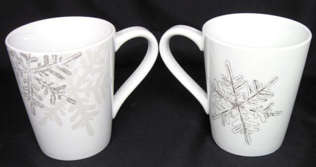 2 st nicholas square mugs pinecones pine tree christmas winter