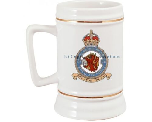 ROYAL AIR FORCE 247  SQUADRON BEER STEIN
