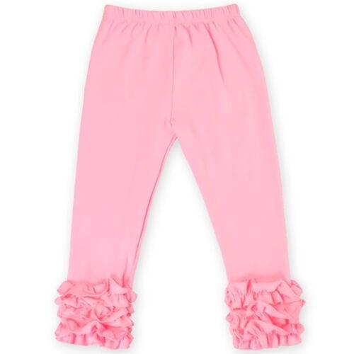 New Ruffle Pants Baby Girls Toddler Kids Long Boutique Icing Ruffles Leggings