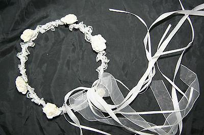 Flower Girl Flower Headband - Garland Wedding/Bridal Communion Dress Up Party