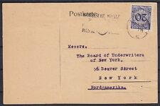 DR Mi Nr. 341 EF Firmen Ausland Karte Kiel Dampfschiff Makler - USA 1924