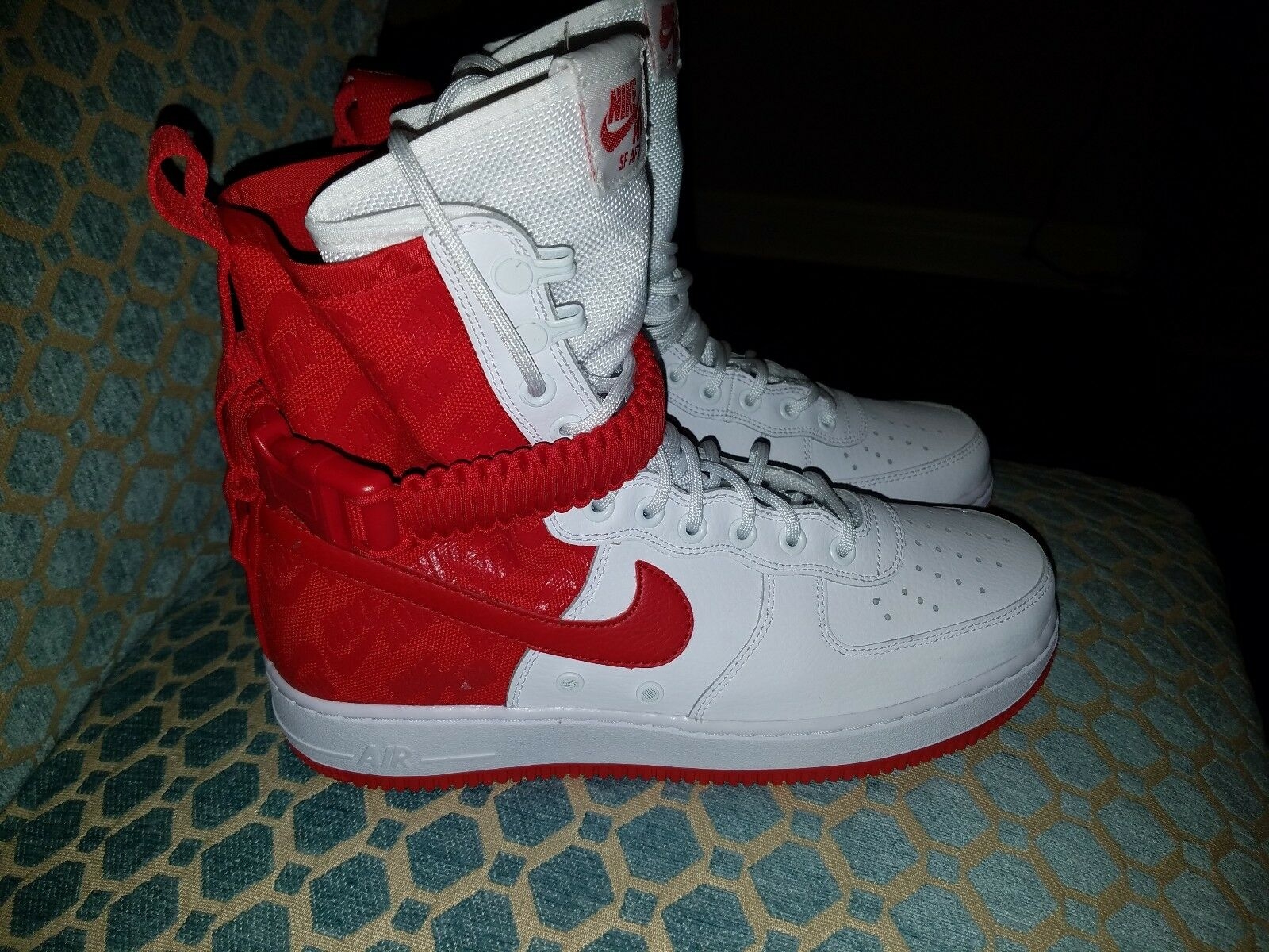 feed03cc3bfb NIKE Men's Size 9 High Air Force 1 University Red White Special Forces