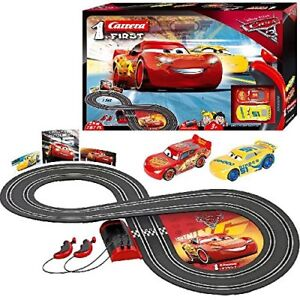 Details about Cars 3 Slot Racing Car Race Track Set Includes Lightning  McQueen & Dinoco Cruz