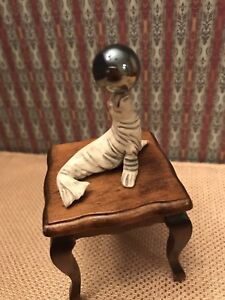 Seal-with-Ball-Miniature-Accessory-For-Your-Dollhouse