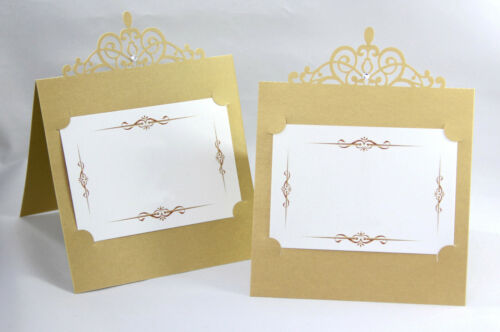 Gold Laser Cut Wedding//Party Table Number//Place Cards 1-12 Top Table Free Stand