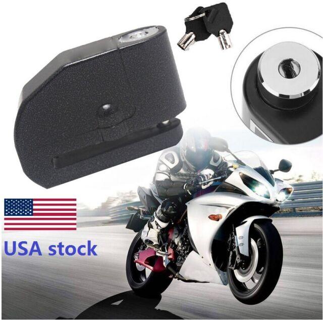 Black Motorcycle Scooter Anti-theft Brake Disc Lock Wheel Alarm Security Loud
