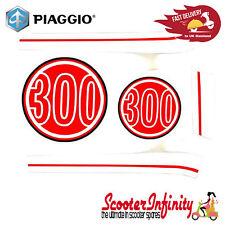 Sticker Decoration Trim for Vespa GTS Super 300 (Dragon Red 894, red / white)