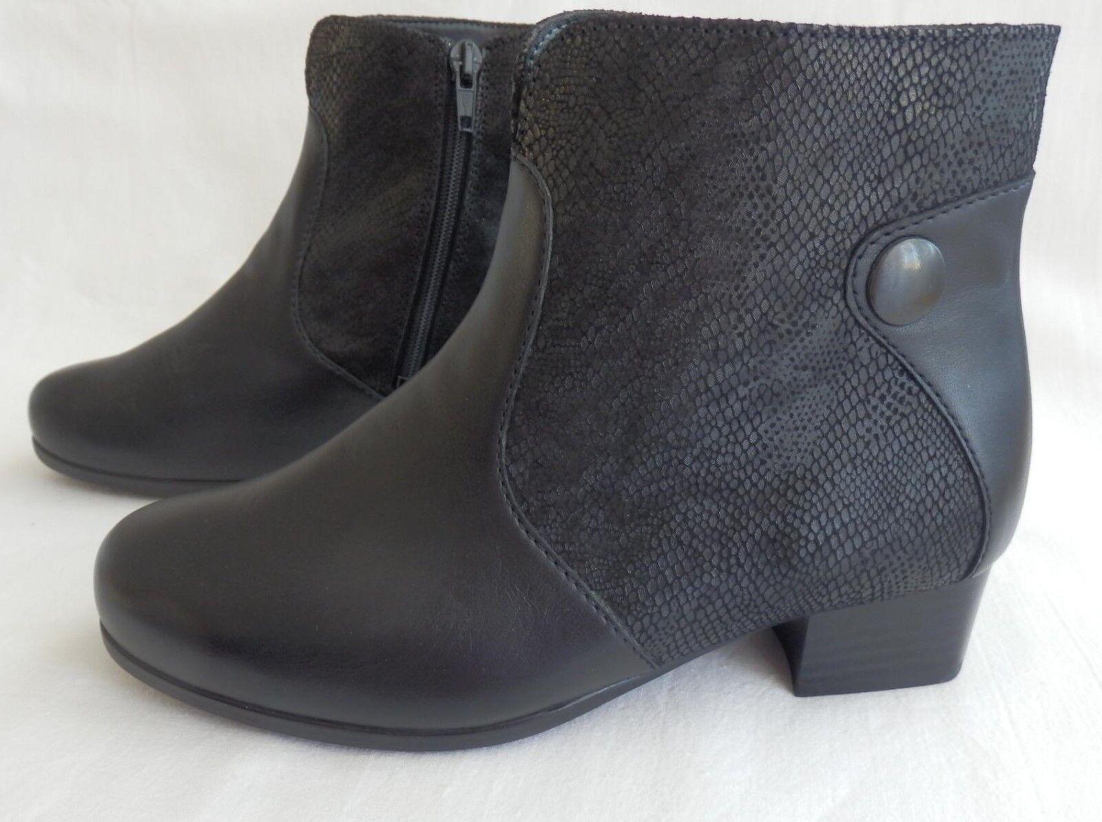 Solidus semi botas botines de cuero