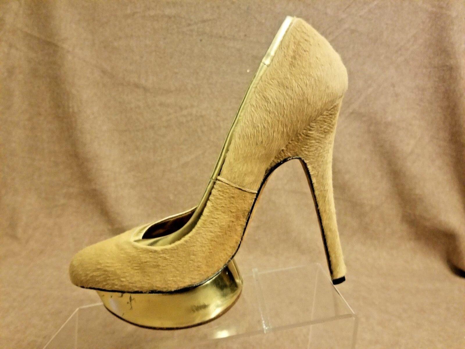 L.A.M.B Damens Tan Nude Platform High Pumps Calf Hair Stiletto High Platform Heels Größe 10 M 16db83