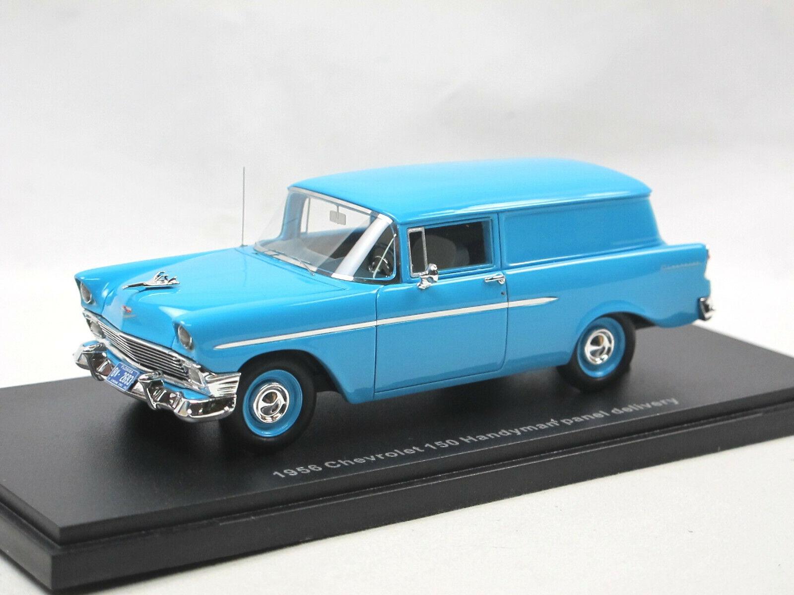 ESVAL MODELS - 1956 CHEVROLET 150 Handyman panel delivery van bleu 1 43 limited