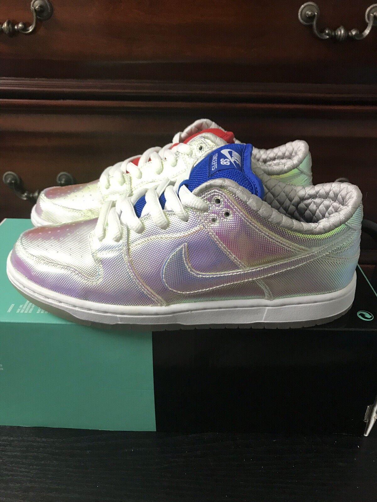 Nike Concepts Dunk Low Premium SB QS Grail White Silver 504750-140 Size 7.5