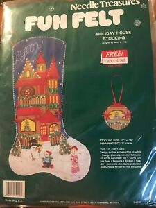 Holiday-House-Christmas-Stocking-Kit-Fun-Felt-Sequins-Ornament-Needle-Treasures