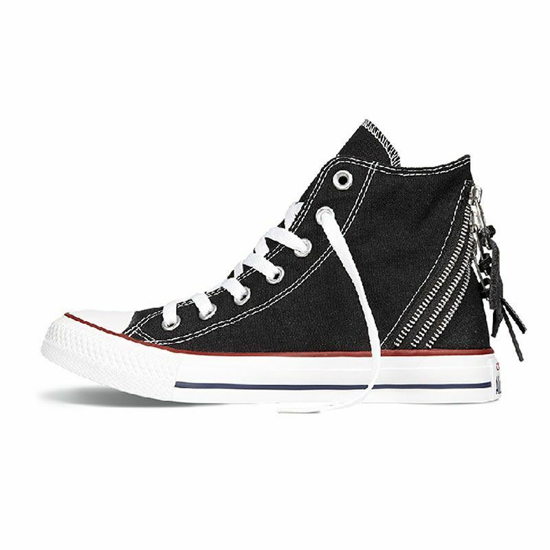 NIB Converse All Star Hi-Top Tri Zip Shoe Sneaker Black 547206F Sz Womens 8