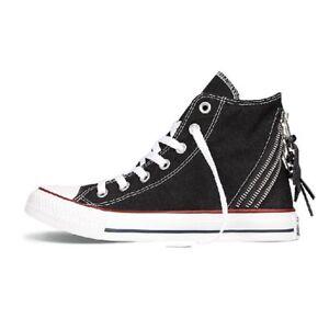 bf4576e90b6841 NIB Converse All Star Hi-Top Tri Zip Shoe Sneaker Black 547206F Sz ...
