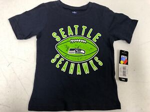 the best attitude 07cc4 c550d Details about NFL Seattle Seahawks Youth Navy T-Shirt