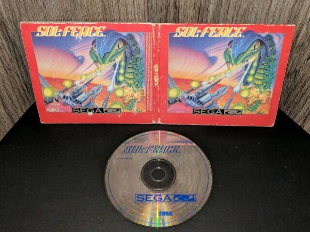 Sol-Feace in Sleeve! (Sega CD) No Manual! Rare! Free Shipping!