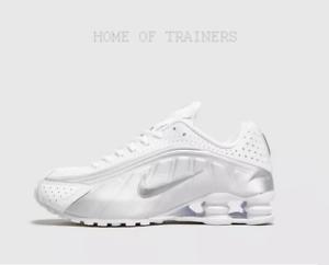 Dettagli su Nike Shox R4 BIANCO silver Scarpe da ginnastica da donna tutte  le dimensioni stock limitata- mostra il titolo originale