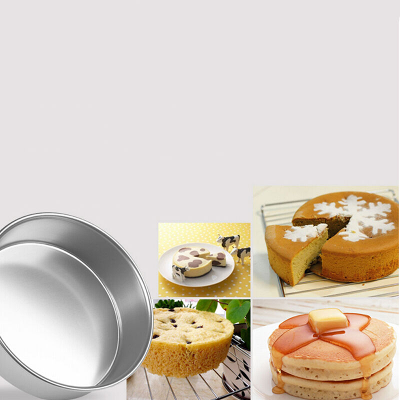 4//5//6//8//9/'/' Aluminum Alloy Non-stick Round Cake Baking Mould Pan Bakeware GX