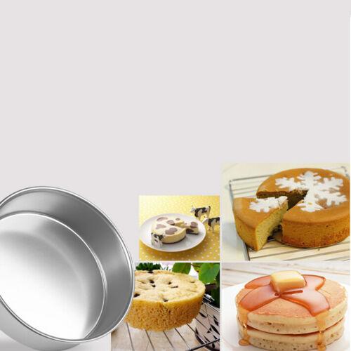 4//5//6//8//9/'/' Aluminum Alloy Non-stick Round Cake Baking Mould Pan Bakeware BS