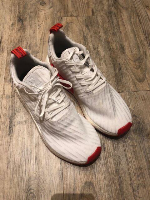 best website 4b0e2 3739c Adidas NMD R2 Primeknit PK Two Toned Shoes BA7253 White Core Red - Men's  Size 12
