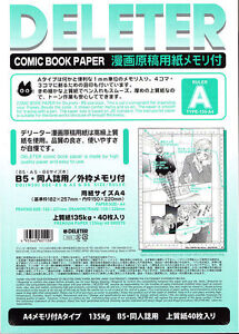 New-DELETER-Manga-Comic-Book-Paper-034-A-034-Size-A4-135-kg-40-Sheets-Japan-Import