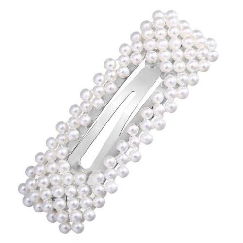 Vintage Women Girls Gold Silver Pearl Flower Hair Pin Hair Clip Hair Accessories
