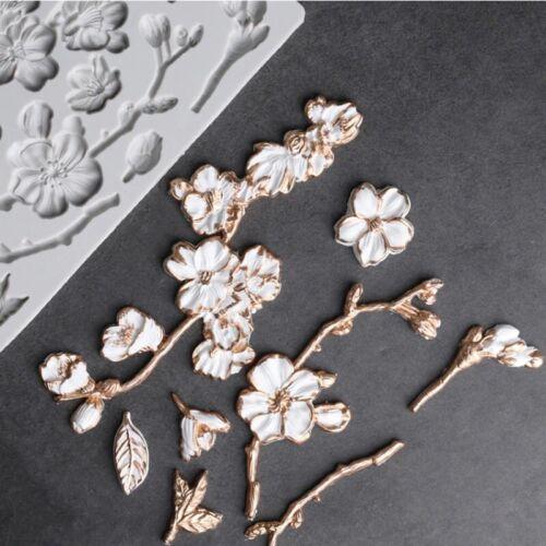 Camellia Peony Rose Magnolia Cherry Blossom Silicone Mold for Fondant Cake Decor