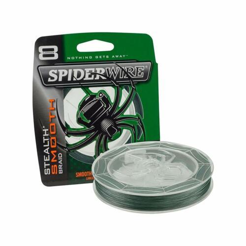300 Yd Spiderwire Stealth lisse Superline 30 lb environ 13.61 kg environ 274.32 m Green Braid Ligne De Pêche