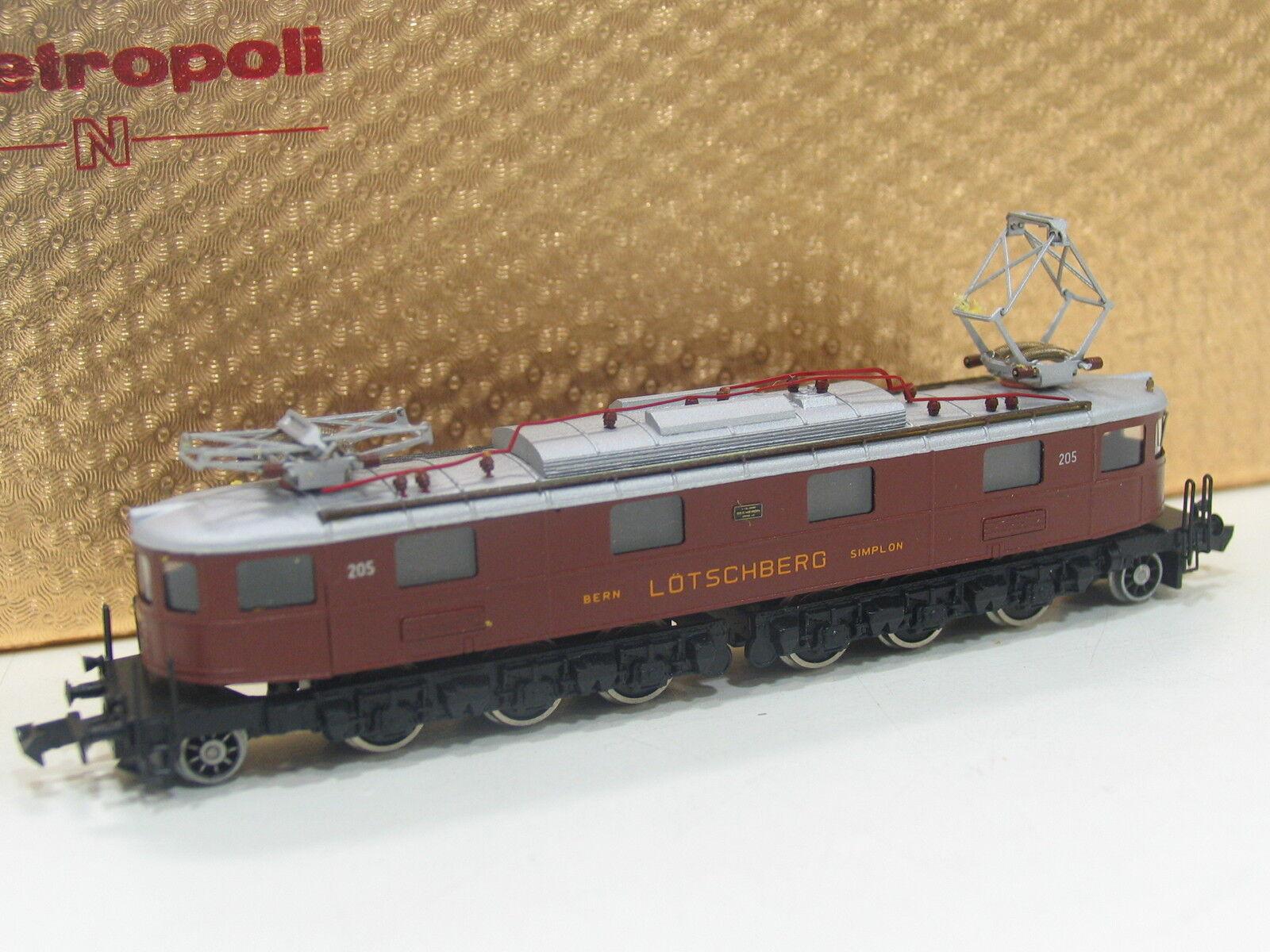 METROPOLITAN Spur N 3001 E-Lok AE 6/8 marrone della BLS sc44