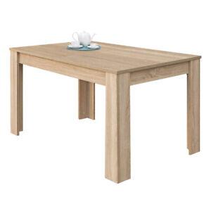 Detalles de Mesa de comedor extensible, mesa cocina mueble salon mesa  grande, Roble Canadian