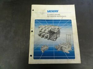Vickers-CM2-CM3-CM11-Control-Valves-for-Mobile-Equipment-Manual