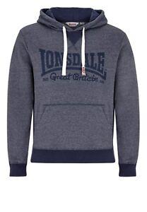 Hooded Lonsdale Sweatshirt Men Navy Hoody Marl Keig Hoodie FwSBnqA