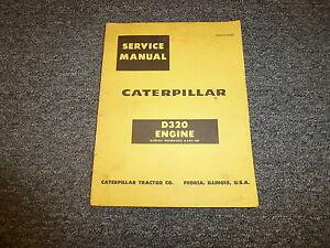 caterpillar cat d320 engine shop service repair manual ebay rh ebay com Manual Caterpillar Motores Manual Caterpillar Motores