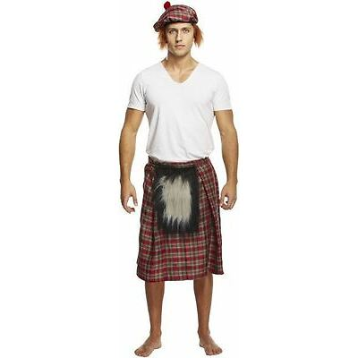 Tartan Kilt with Sporran Scottish Scot Scotland Fancy Dress Costume Burns Night