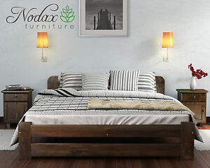 Image Is Loading Brand New Solid Pine King Size Bed Frame
