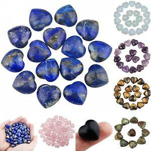0-5-Healing-Reiki-Crystal-Gems-Puff-Heart-Stone-Collection-DIY-Love-Gift-10-Pcs