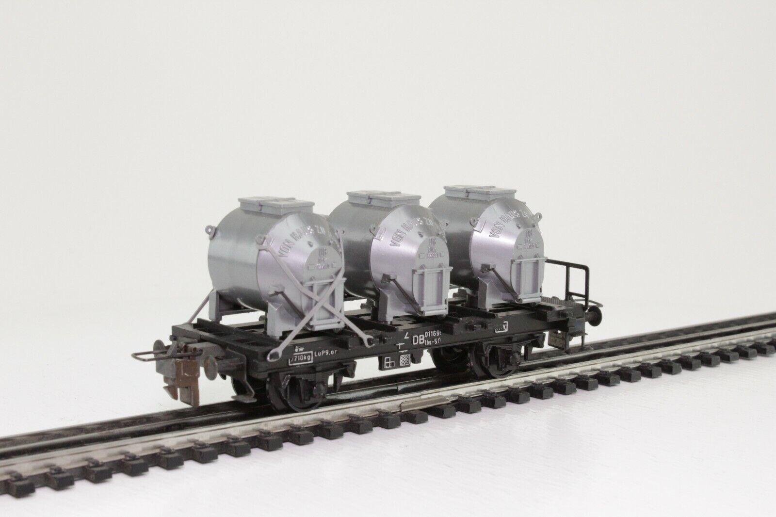 TRIX Express 7204 H0 Güterwagen Behältertragwagen VTG 2-achsig  | Verschiedene aktuelle Designs